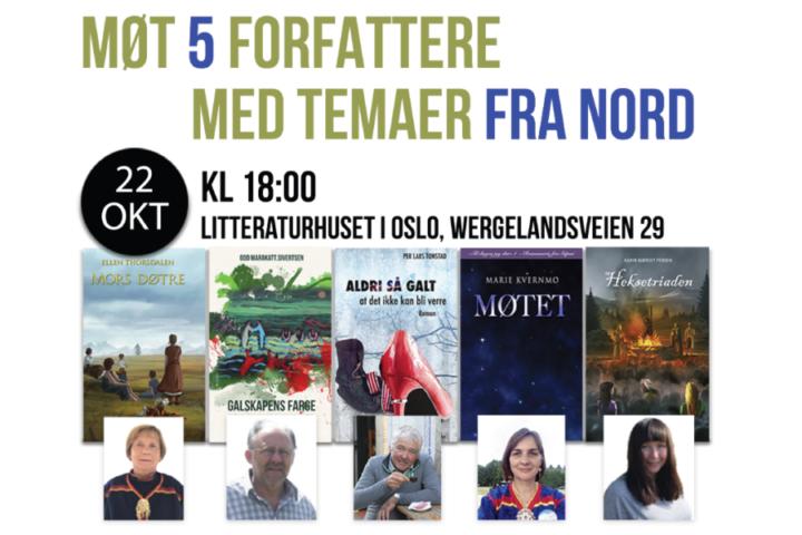 5 forfattere med tema fra nord